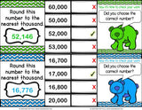 Rounding Larger Numbers 'Clip and Flip' Cards - Games 4 Gains  - 3