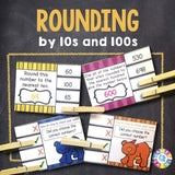 Rounding Numbers to Tens and Hundreds 'Clip and Flip' Cards - Games 4 Gains  - 1