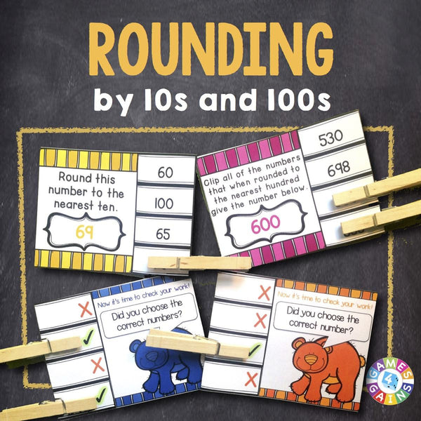 Rounding Numbers To Tens And Hundreds 39 Clip And Flip