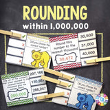 Rounding Larger Numbers 'Clip and Flip' Cards - Games 4 Gains  - 1