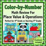 Back to School Color-by-Number - 4th/5th Grade - Games 4 Gains  - 1