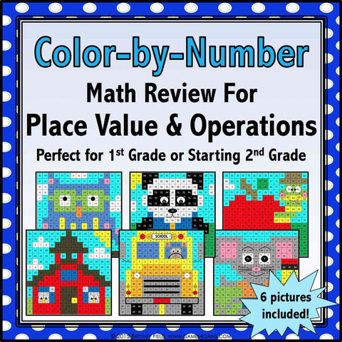 Back to School Color by Number - 1st/2nd Grade – Games 4 Gains