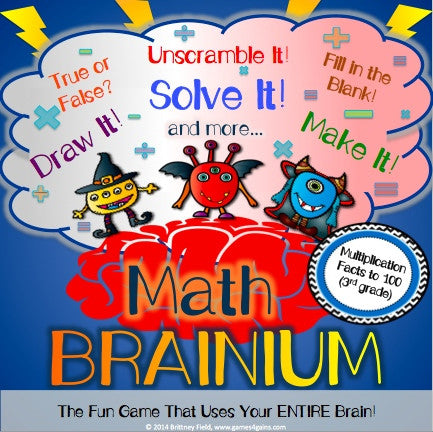 Brainium Multiplication Game - Games 4 Gains  - 1