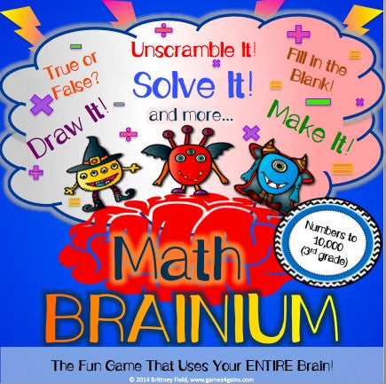 Place Value Brainium Game - Games 4 Gains  - 1