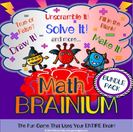 Brainium Math Games Bundle - Games 4 Gains