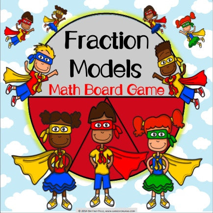 Fractions Board Game - Games 4 Gains  - 1