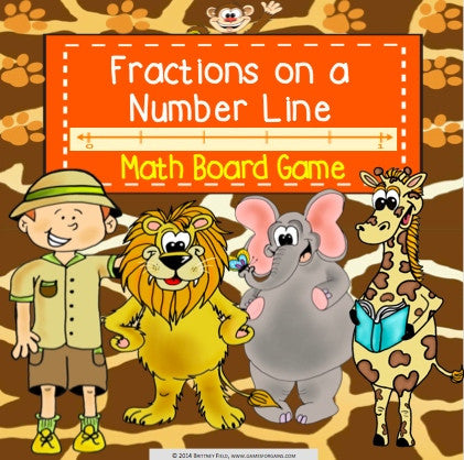 Fractions on a Number Line Board Game - Games 4 Gains  - 1