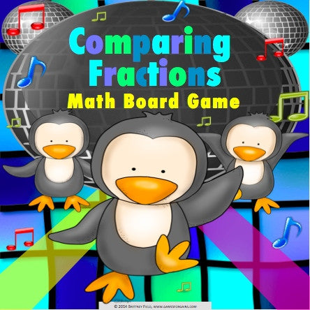 Comparing Fractions Board Game - Games 4 Gains  - 1
