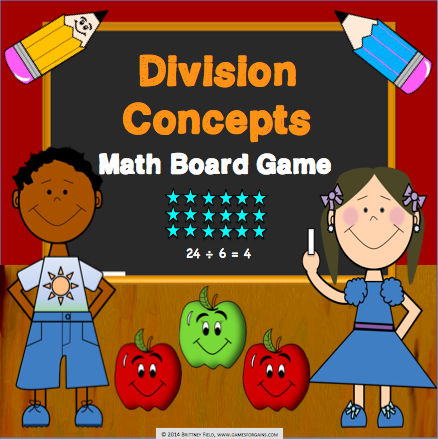 Division Board Game - Games 4 Gains  - 1