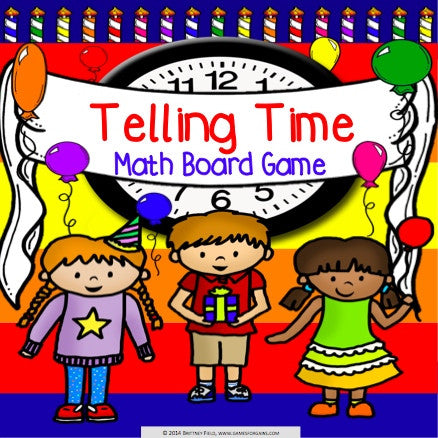 Telling Time Board Game - Games 4 Gains  - 1