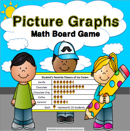 Picture Graphs Board Game - Games 4 Gains  - 1