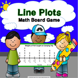 Line Plots Board Game - Games 4 Gains  - 1