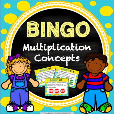 Multiplication Bingo Game - Games 4 Gains  - 1