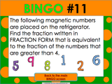 Equivalent Fractions Bingo Game - Games 4 Gains  - 4