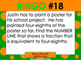 Equivalent Fractions Bingo Game - Games 4 Gains  - 5
