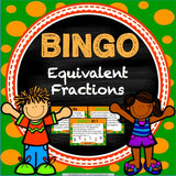 Equivalent Fractions Bingo Game - Games 4 Gains  - 1