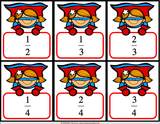Fractions 'Superhero Draw' Game - Games 4 Gains  - 2