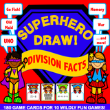 Division 'Superhero Draw' Game - Games 4 Gains  - 1