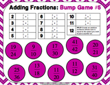 Adding Fractions Bump Games - Games 4 Gains  - 3