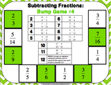 Subtracting Fractions Bump Games - Games 4 Gains  - 3