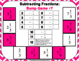 Subtracting Fractions Bump Games - Games 4 Gains  - 4