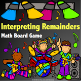 Interpreting Remainders Board Game - Games 4 Gains  - 1