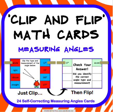 Angles 'Clip and Flip' Cards - Games 4 Gains  - 1