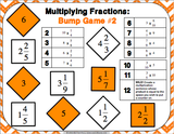 Multiplying Fractions Bump Games - Games 4 Gains  - 3