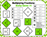 Multiplying Fractions Bump Games - Games 4 Gains  - 4