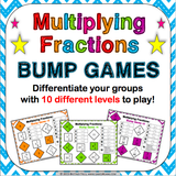 Multiplying Fractions Bump Games - Games 4 Gains  - 1