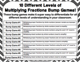 Multiplying Fractions Bump Games - Games 4 Gains  - 2