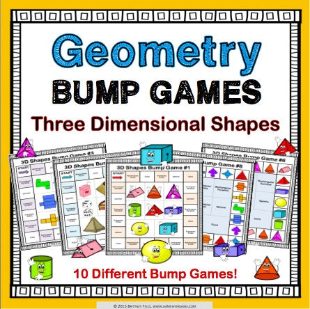 3D Shapes Bump Games - Games 4 Gains  - 1