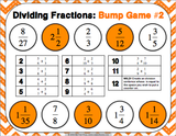 Dividing Fractions Bump Games - Games 4 Gains  - 3