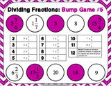 Dividing Fractions Bump Games - Games 4 Gains  - 4