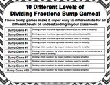 Dividing Fractions Bump Games - Games 4 Gains  - 2