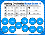 Adding Decimals Bump Games - Games 4 Gains  - 2