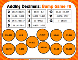 Adding Decimals Bump Games - Games 4 Gains  - 3