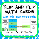 Writing Expresions 'Clip and Flip' Cards - Games 4 Gains  - 1