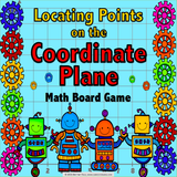 Locating Points on the Coordinate Plane Board Game - Games 4 Gains  - 1
