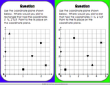 Locating Points on the Coordinate Plane Board Game - Games 4 Gains  - 4