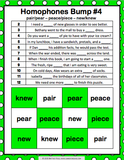 Homophones Bump Games - Games 4 Gains  - 3