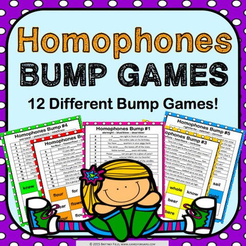 Homophones Bump Games - Games 4 Gains  - 1