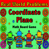 Real World Problems on the Coordinate Plane Board Game - Games 4 Gains  - 1