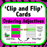 Ordering Adjectives 'Clip and Flip' Cards - Games 4 Gains  - 1