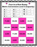 Metric Measurement Conversions Bump Games - Games 4 Gains  - 2