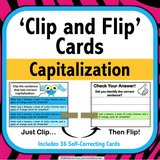 Capitalization 'Clip and Flip' Cards - Games 4 Gains  - 1