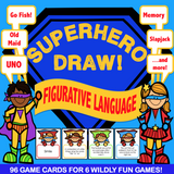 Figurative Language 'Superhero Draw' - Games 4 Gains  - 1