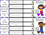Sequencing 'Clip and Flip' Cards - Games 4 Gains  - 2