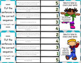 Sequencing 'Clip and Flip' Cards - Games 4 Gains  - 3
