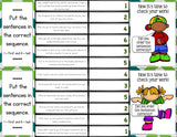 Sequencing 'Clip and Flip' Cards - Games 4 Gains  - 4
